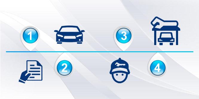 Сведения акта приема-передачи транспортного средства для ремонта